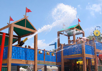 Splash pad at Yogi Bear's Jellystone Park Gardiner.