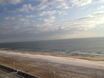 The beach at Quality Inn Boardwalk Ocean City.