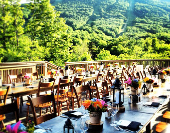 Wedding reception at Stowe Mountain Lodge.