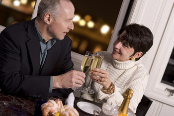 Romantic dining at Homestead Suites.