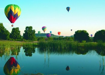 Hot Air Balloon In Sky at  Eagle Ridge Resort