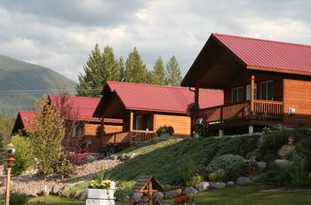 Cabins at Glaciers' Mountain Resort.