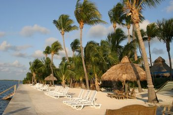 The beach at Hampton Inn & Suites Islamorada.