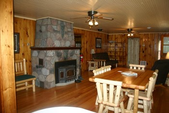 Cabin living room at Timber Trails Resort.