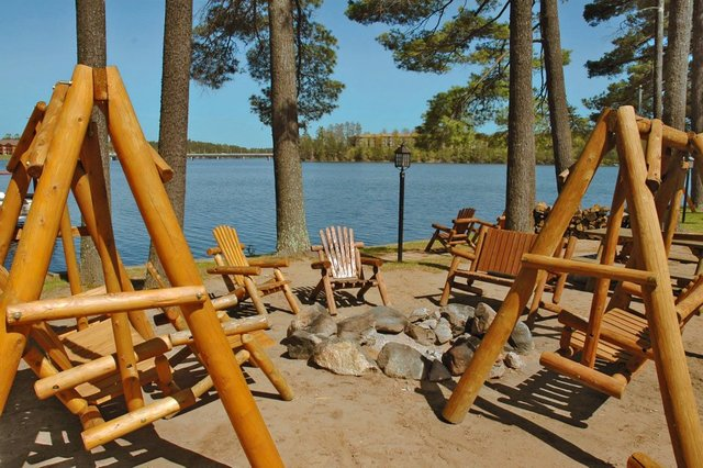 Patio view at The Beacons of Minocqua.