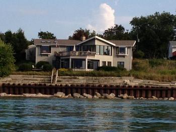 Vacation rental exterior at Beach Combers Vacation Rentals.