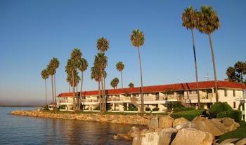 Exterior view of Oceanside Marina Suites.