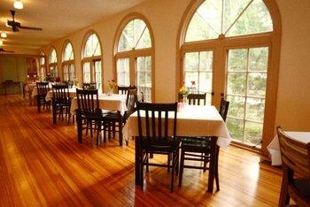 Dining at Wildwood Springs Lodge.