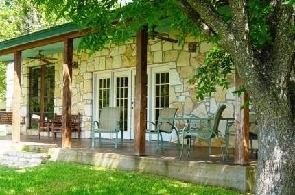 Cabin exterior at Rio Vista Resort.