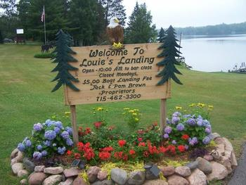 Lake view at Louie's Landing on Moose Lake.