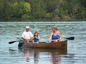 Canoe rides at White Manor Resort.