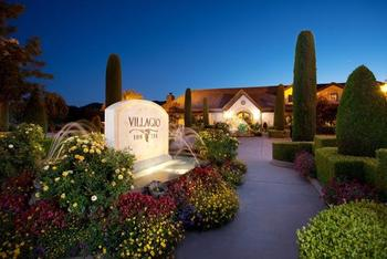 Exterior view of Villagio Inn and Spa.