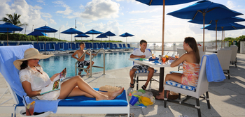 Lounging by the pool at The Seagate Hotel & Spa.
