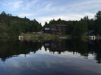 Exterior view of Big Moose Inn.