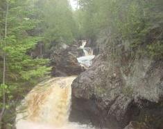 Water fall at Cascade Lodge.