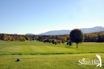 Golfing at Sunny Hill Resort & Golf Course.