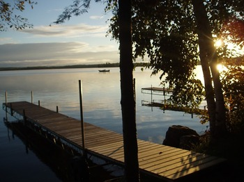 Private dock at Timber Trail Lodge & Resort.