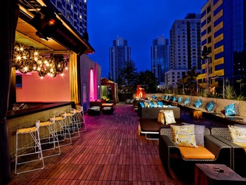 Patio at The W San Diego.