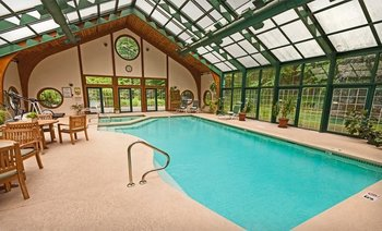 Indoor/Outdoor Pool at Stonehedge Inn and Spa