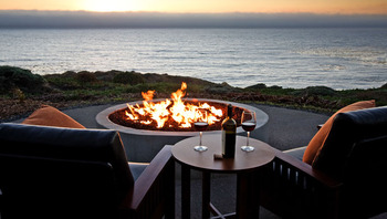 Fire Pit By The Ocean at Timber Cove Inn