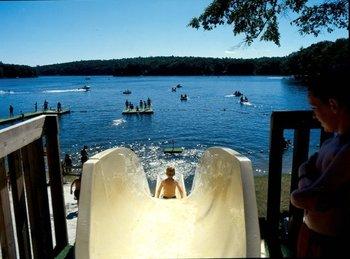 Water slide at Woodloch Resort.