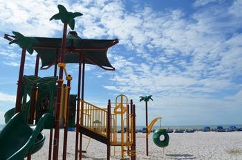 Beach playground at Sirata Beach Resort.