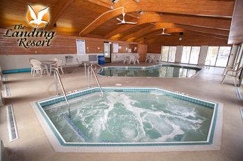 Hot tub at The Landing Resort.