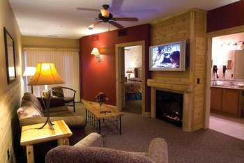 Suite interior at Double JJ Resort.