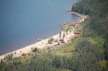 Aerial View of Mattice Lake Outfitters
