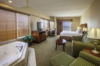 Jacuzzi suite at Hilton Garden Inn Outer Banks.