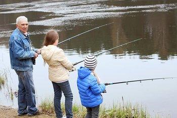 Fishing at River Canyon Retreat.