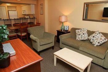 Vacation rental living room at Grande Shores Ocean Resort.