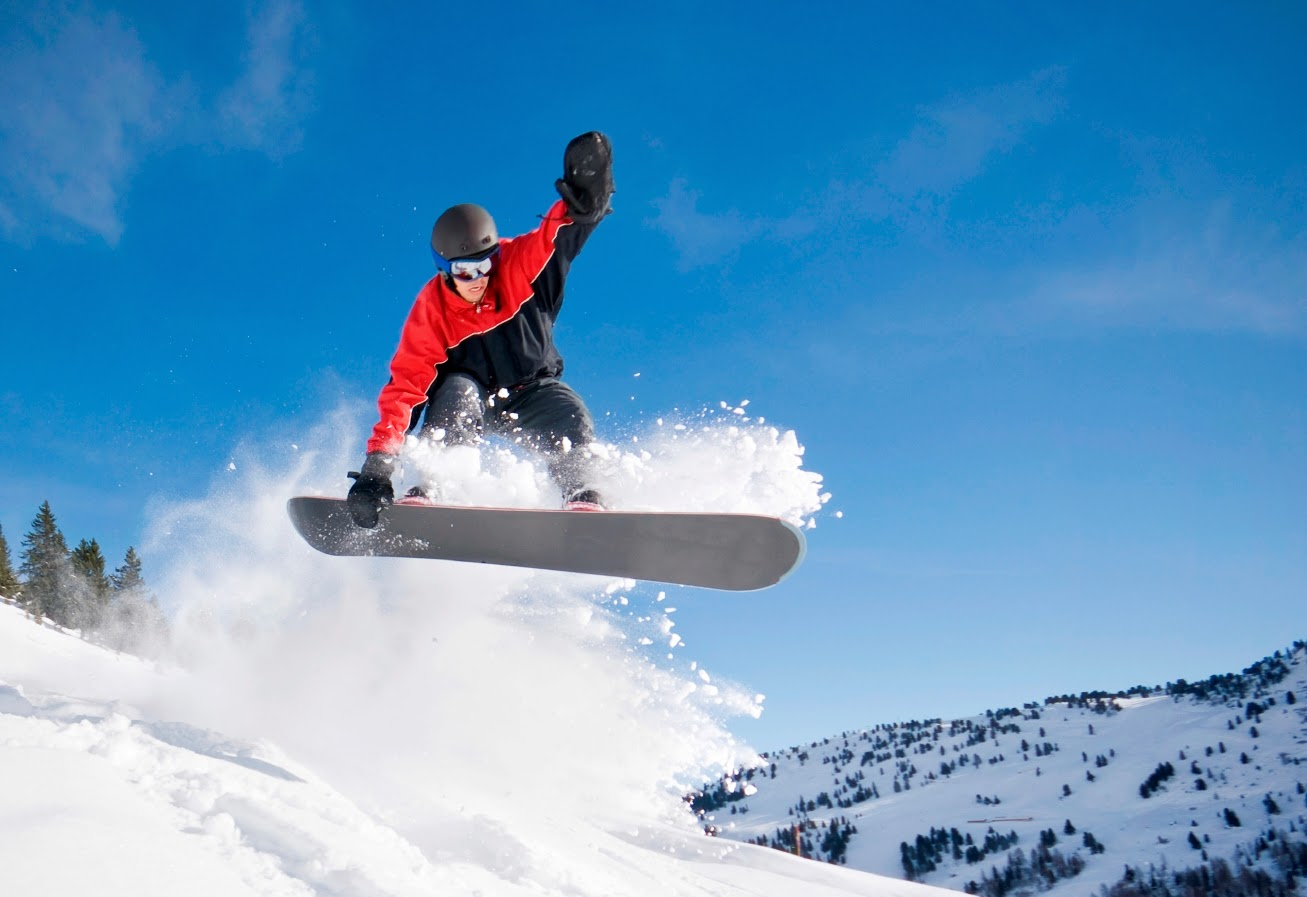 Snowboarding at Family Time Vacation Rentals.