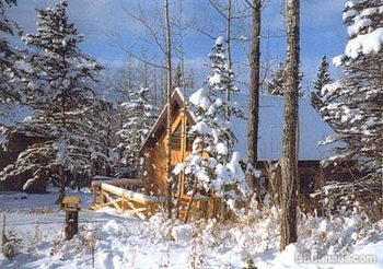 Winter time at Gingerbread Cabin.