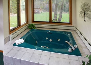 Jacuzzi view at Aspen Winds .