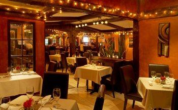 Restaurant view at Thayers Inn.