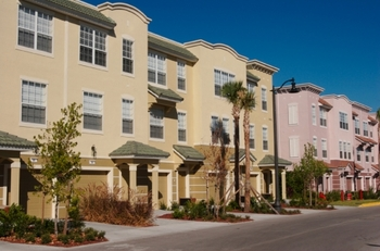 Town home view at Vista Cay Resort.
