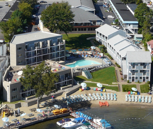 Aerial View of Surfside on the Lake