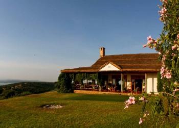 Exterior view of Mweya Safari Lodge.