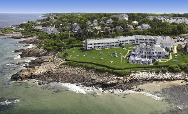 Aerial view of Beachmere Inn.