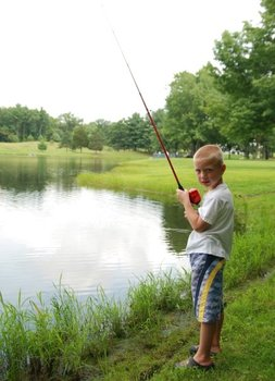 Fishing at Wolff's Maple Breeze Resort