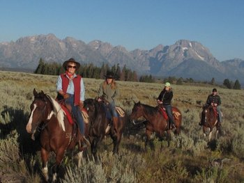 Trail ride at Triangle X Ranch.