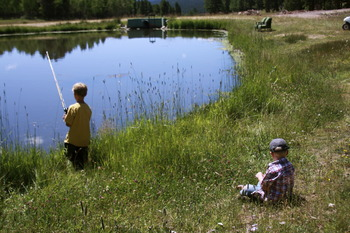 Fish for rainbow, brown and brook trout at Wind River Ranch