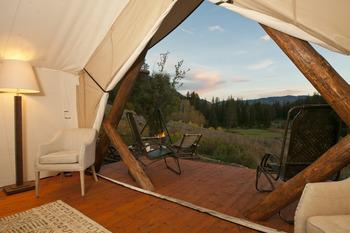 Yurt view at Cabin and Company.