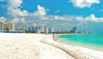 Beautiful beaches of Gulf Strand Resort.