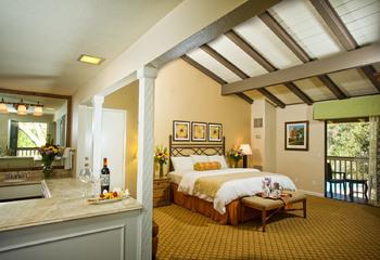 Guest room at Pala Mesa Resort.