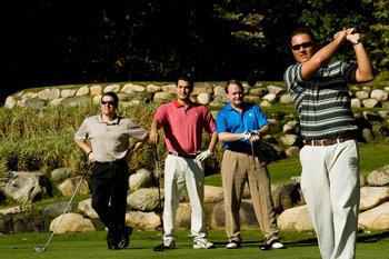 Group playing golf at Garland Lodge & Resort.