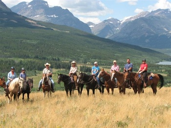 Ridding Horses at Bear Creek Ranch