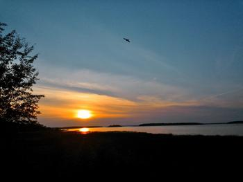 Sunrise at Drummond Island Resort.