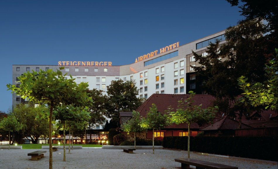 Exterior view of Steigenberger Airport Hotel.